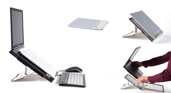 support ordinateur portable mobilier bureau. Black Bedroom Furniture Sets. Home Design Ideas