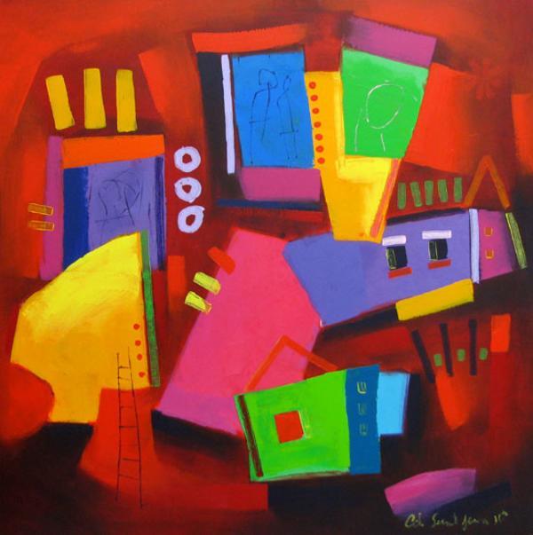 D coration tableaux peintures for Decoration tableau peinture