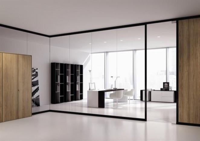 La gamme de cloisons ARIA permet de créer des espaces de travail modernes, dans lesquels les matières et les technologies se transforment en éléments fonctionnels et fascinants