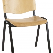 Chaise empilable en bois Claudia - 1