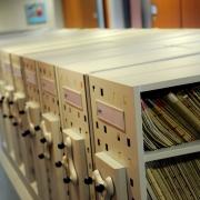 Entreposage mobile, bibliothèque mobile, classement roulant