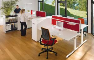 Bureau ergonomique Sedus Temptation C - Travail en équipe