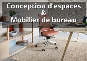 Conception d'espaces et mobilier de bureau