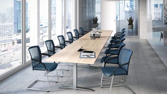 TALO.S conférence : une table de réunion avec réglage en hauteur