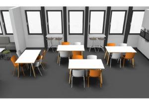 Modélisation 3D - Espace détente et cafétéria